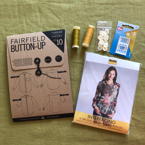 Fairfield Button-Up Men's Shirt Sewing Kit in Washed Linen