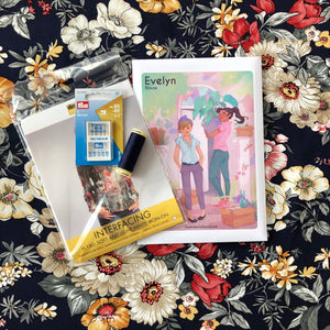 Evelyn Blouse Sewing Kit in Beautiful Emma Viscose Rayon