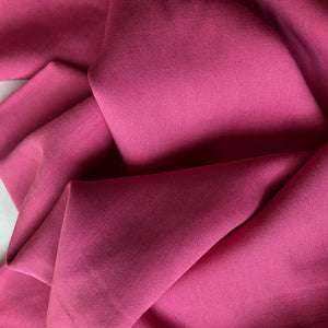 REMNANT 0.75 meter Grandeur Pink Modal Bamboo Tencel Twill Dress Fabric