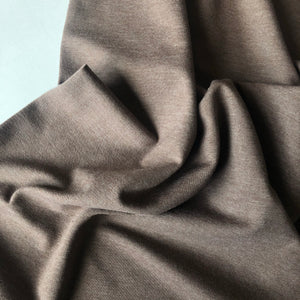 Essential Chic Melange Taupe Plain Cotton Jersey Fabric