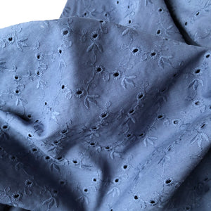 Lizzy Blue Cotton Broderie Anglaise