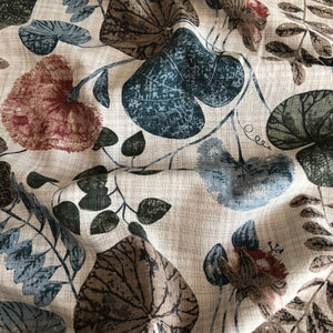Aquatic Plants Neutral Cotton / Linen / Viscose Blend