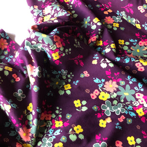 Art Gallery Fabrics - Blooming Soul Plum knit fabric from Indie Boheme