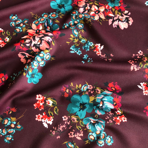 Lady McElroy - Mulberry Blooms Luxury Scuba Jersey Fabric