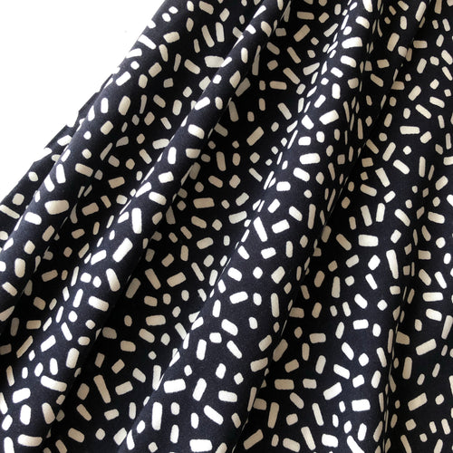 Chalk Pieces Black Viscose Dress Fabric