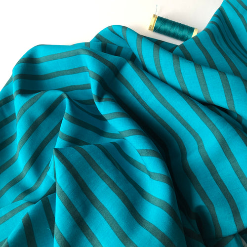 REMNANT 2.50 meters Art Gallery Fabrics - Tide Stripes Rayon / Viscose Dress Fabric