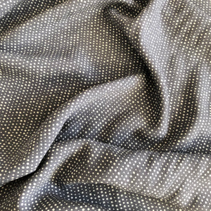 REMNANT 0.43 Meters  Dotty Dream Grey Viscose Crepe Dress Fabric