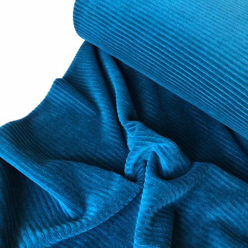 Danish Design - Oxford Blue Ribbed Velvet Jersey