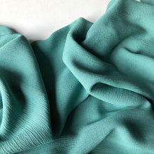 Crinkled Viscose Verdigris Green Dress Fabric