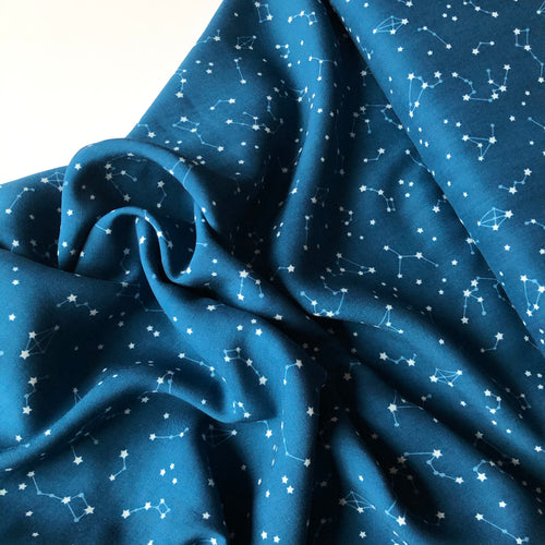 Art Gallery Fabrics - Night Sky Rayon / Viscose Dress Fabric
