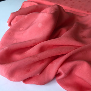 Viscose Jacquard Coral Dress Fabric