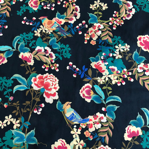 Lady McElroy - Chaffinch Bough Cotton Marlie Lawn Dress Fabric