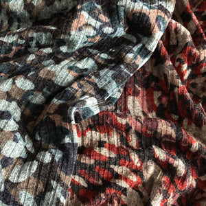 Evening Palette Melange Rib Knit Fabric