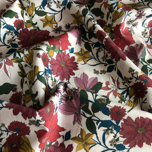 Shades of Autumn Cotton Lawn Dress Fabric