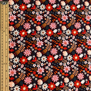 Dashwood Studio - Brown Flowers Cotton Needlecord