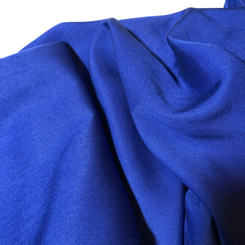 Grandeur Royal Blue Modal Bamboo Tencel Twill Dress Fabric