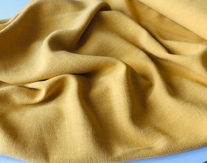 Flow Orpiment Yellow Viscose Linen Blend Dress Fabric