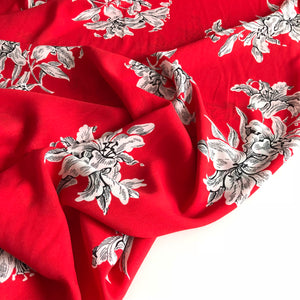 Lady McElroy - Scarlet Cluster Double Gorgette Dress Fabric
