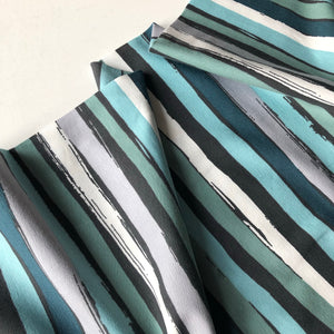 Danish Design - Wavy Verdigris Cotton Jersey