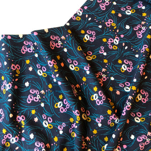 REMNANT 0.68 meter Night Flowers Cotton Jersey