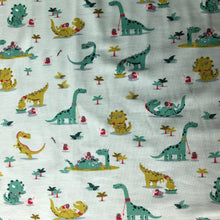 Dino Delight Green Cotton Jersey