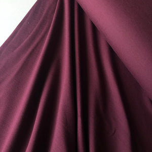Essential Chic Aubergine Plain Cotton Jersey Fabric