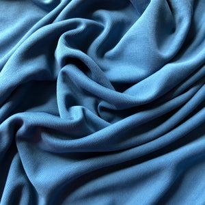 REMNANT 1.03 meter Allure Blue Modal Knit Fabric