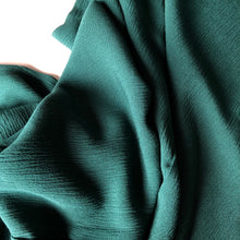 Crinkled Viscose Kelly Green Dress Fabric