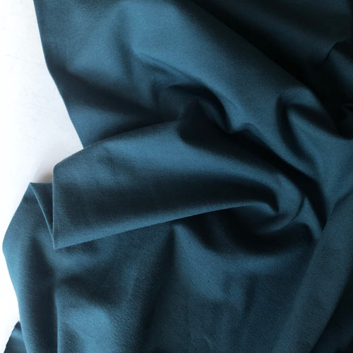 Essential Chic Dark Teal Cotton Jersey Fabric
