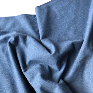Essential Chic Melange Denim Blue Jersey Fabric