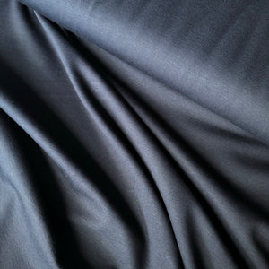 REMNANT 0.62 meter Navy Viscose Ponte Roma double Knit Fabric