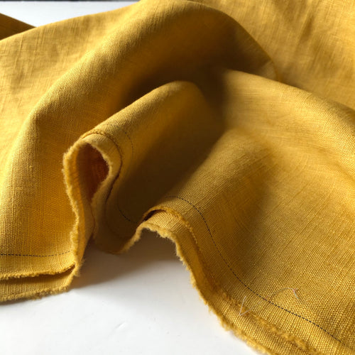 REMNANT 1.77 meters Breeze Yellow Gold - Enzyme Washed Pure Linen