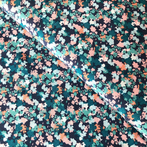REMNANT 1.25 meters Floral Impression Rayon / Viscose Dress Fabric