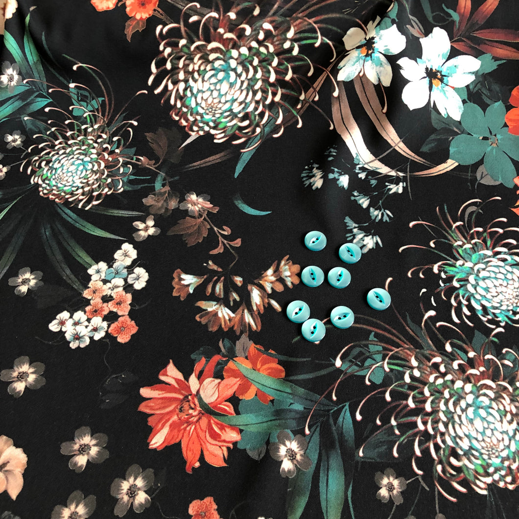 Lady McElroy - Flower Festival Lena Crepe Dress Fabric