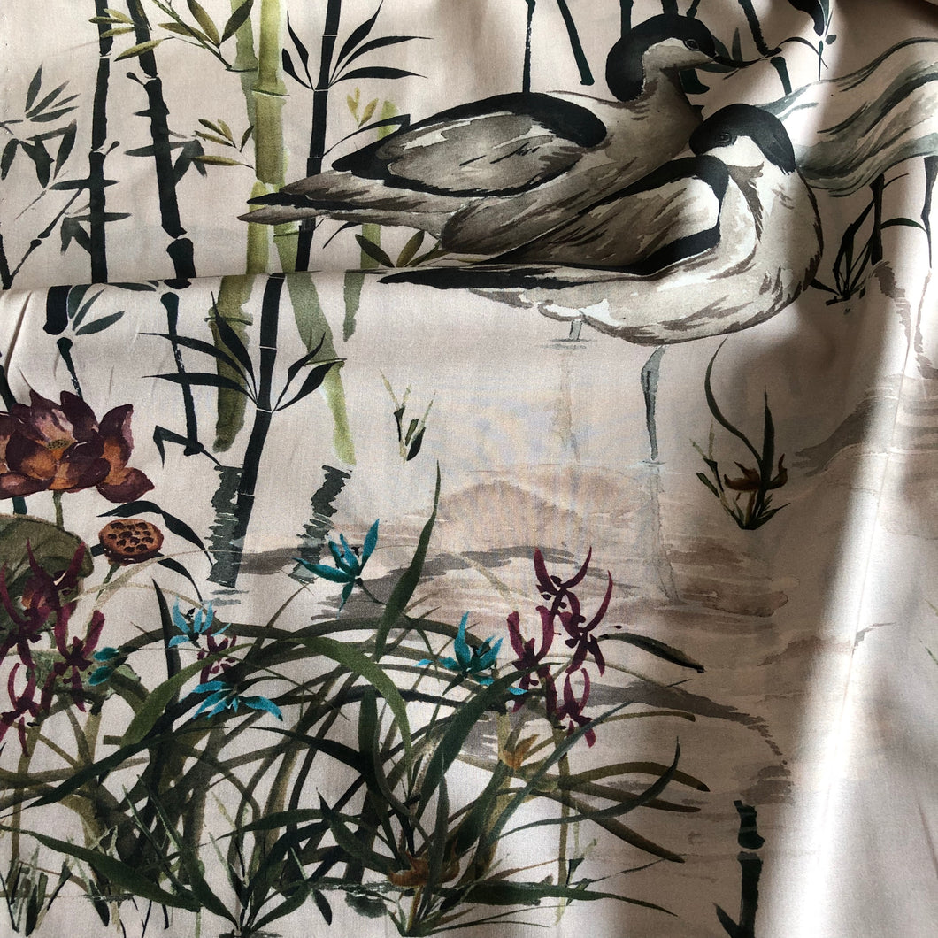 Rushland Heron Cotton Lawn Dress Fabric