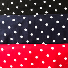 REMNANT 2.04 meters Classic Polka Dot Black Viscose Dress Fabric