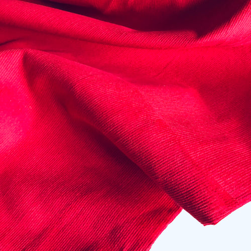 REMNANT 1.50 meters Scarlet Stretch Cotton Needlecord fabric