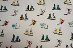Lady McElroy - Vintage Sailing Cotton Lawn Dress Fabric