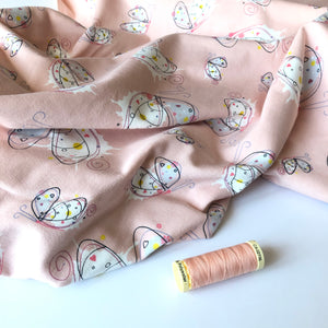 REMNANT 1.63 meters Danish Design - Butterflies Cotton Jersey