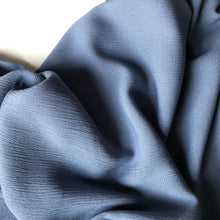 Crinkled Viscose Blue Dress Fabric