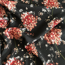 Lady McElroy - Pimpernal Ebony Viscose Crepe Dress Fabric