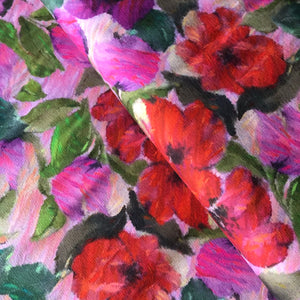 REMNANT 2.08 meters Danish Design - Floral Perfection Cotton Jersey