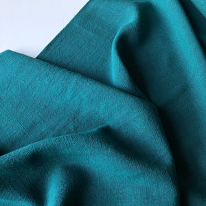 Flow Teal Viscose Linen Blend Dress Fabric (more due soon)