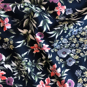 Midnight Flowers Cotton Lawn