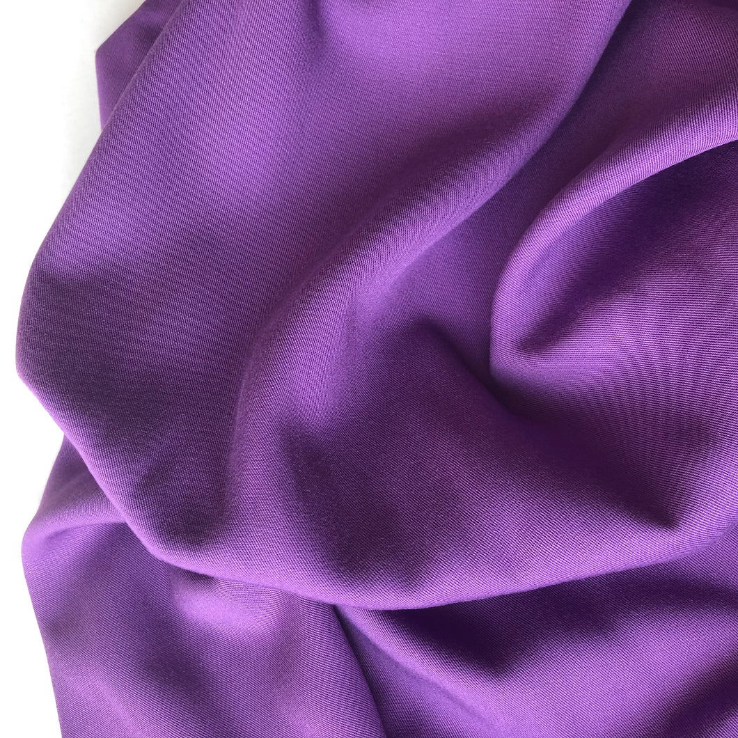 Grandeur Purple Modal Bamboo Twill Dress Fabric