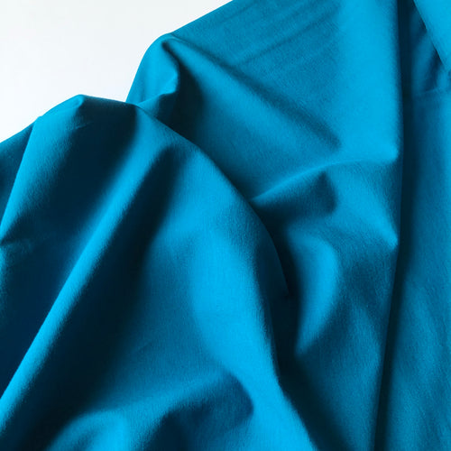 Essential Chic Peacock Blue Plain Cotton Jersey Fabric
