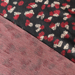 REMNANT 1.99 meters Danish Design - Rose Petals Organic Jacquard Dress Fabric