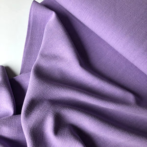 REMNANT 1 meters Flow Lilac Viscose Linen Blend Dress Fabric