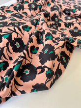 Atelier Jupe - Old Pink Flower Cotton-Stretch Fabric