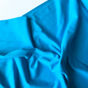 Essential Turquoise Cotton Spandex Jersey Fabric